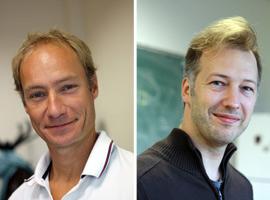 De gauche à droite, Pierre Sens et Florent Krzakala Crédits ESPCI ParisTech